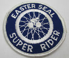 Vintage Easter Seal Super Rider Bicycle Motorcycle Embroidered Patch