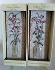 Cheri Blum Field Flower Wall Plaques / Wall Resin Art PAIR