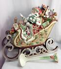 Fitz and Floyd Enchanted Holiday Santa's Sleigh Soup Tureen w/ Ladel