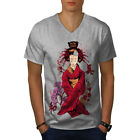 Classic Geisha Doll Men V-Neck T-shirt NEW | Wellcoda