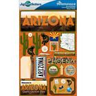 REMINISCE JET SETTERS ARIZONA TRAVEL VACATION DIMENSIONAL 3D SCRAPBOOK STICKERS