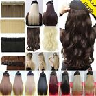 Real thick one piece 5 clipd 3/4 full hair clip in human hair extensions curly L