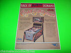 EIGHT BALL DELUXE LIMITED By BALLY 1981 ORIGINAL NOS PINBALL MACHINE SALES FLYER