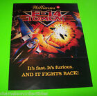 F-14 TOMCAT By WILLIAMS 1987 ORIGINAL PINBALL MACHINE PROMO SALES FLYER