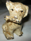 ANTIQUE HUBLEY USA CAST IRON PUPPY DOG TOY BONE ART STATUE SCULPTURE DOORSTOP US