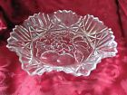 Federal Glass Pioneer fruit fluted sawtooth glass bowl