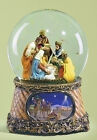 SNOW GLOBES NATIVITY MUSICAL SNOW GLOBE HOLY FAMILY THREE KINGS