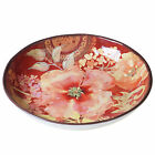 Certified International Watercolor Poppies Red and Pink Ceramic 12.75-inch Servi