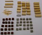 HO SCALE - LOT OF FLAT CAR LOADS OR BUILDING ACCESSORIES