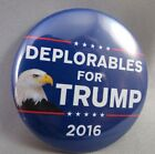 WHOLESALE LOT OF 12 DEPLORABLES FOR TRUMP 2016 BUTTONS Eagle pin President USA