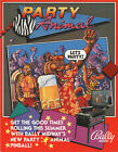 1987 BALLY MIDWAY PARTY ANIMAL PINBALL FLYER