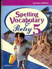 SPELLING VOCABULARY  POETRY 5 TEACHERS EDITION A BEKA BOOK