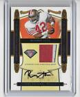 RONNIE LOTT 2008 DONRUSS PLAYOFF 75TH ANNIVERSARY 2 COLOR PATCH AUTOGRAPH #2 10