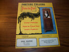 GRANNY PREDICTIONS ORIGINAL FORTUNE TELLER MACHINE COIN-OP PROMO SALES FLYER