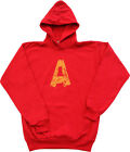 Adult Red Movie Alvin and the Chipmunks Alvin A Distressed Hoodie Sweatshirt
