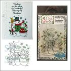 Christmas Stamps SNOW FAMILY Cling Stamp Tina Wenke Stampavie Holidays wds631