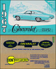 1967 Chevy Owner Manual with Envelope Impala SS Caprice Bel Air Biscayne Owner