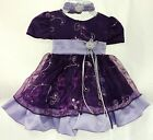NEW SHANIL PURPLE BOUTIQUE PAGEANT OR FLOWER GIRL DRESS 6M 24M