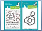 Lawn Fawn Photopolymer Clear Stamp  Die Combo THANKS A BUSHEL LF1208 LF1209