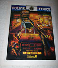 WILLIAMS POLICE FORCE LARGE PINBALL MACHINE MAGAZINE ADVERTISING NOT A FLYER