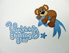 Shining Star In Blue Childrens Theme Scrapbooking die cuts Bazzill cardstock