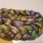 Crazy Handpainted Mulberry Silk Brick Roving Top Spin Or Blend Variety Listing