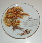 Collector Plate AVON 5TH ANNIVERSARY Porcelain 22K GOLD TRIM Mint w/ Box 8.5