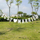 JUST MARRIED Wedding Banner Party Decoration Bunting Garland Photo Booth Prop