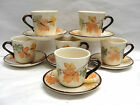 SET of SIX (6) FRANCISCAN CHINA - OCTOBER Pattern - CUP & SAUCER SETS