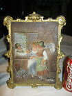 ANTIQUE BRADLEY HUBBARD CAST IRON HOME TABLE WALL FAMILY CAT ART PAINTING PLAQUE