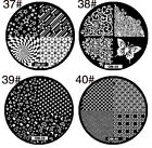 1x stamping schablone, nail art, stamping plates, OM 37-OM 40