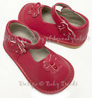 Girls Squeaky Shoes Red ADD A BOW U Choose Size Wear Them Plain or With Bow SALE
