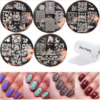 6pcs set Born Pretty Nail Art Stamping Plates  Silicone Clear Stamper Kit DIY