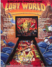 ESCAPE FROM THE LOST WORLD By BALLY 1988 NOS PINBALL MACHINE PROMO SALES FLYER