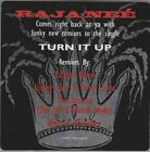 Raja-Nee: Turn It Up PROMO w/ Artwork MUSIC AUDIO CD Remixes Salaam Tha Arsenal