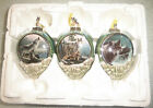 Christmas Ornaments Set 3 Bradford Edition WOLF Call Of The Wilderness COA