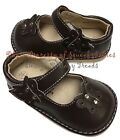 Girls Squeaky Shoes BROWN ADD A BOW Wear Plain or w Bow DEFECTIVE SQUEAKS sz 3