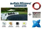 Buffalo Blizzard Deluxe Oval Swimming Pool Winter Cover w 4 x 4 Air Pillow