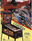 1992 BALLY MIDWAY BLACK ROSE PINBALL FLYER