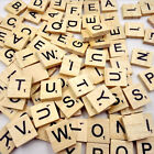 100Pcs Wooden Alphabet Scrabble Tiles Mixed Black Letters Numbers Crafts Wood