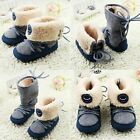 Newborn Baby Boys Toddler Infant Soft Sole Booties Snow Boots Crib Shoes 0 18M