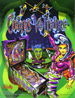 Bally CIRQUS VOLTAIRE 1997 Original NOS Flipper Pinball Machine Promo Sale Flyer