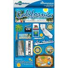 REMINISCE JET SETTERS CALIFORNIA TRAVEL VACATION DIMENSIONAL SCRAPBOOK STICKERS