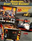Bally INDIANAPOLIS 500 Original 1995 NOS Flipper Game Pinball Machine Flyer Adv.
