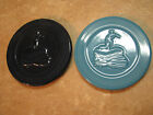 FIESTA Fiestaware LOT OF 2 TRIVETS Hot Plates COBALT & TURQUOISE? BLUE 6