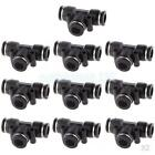 20pcs 10mm 3/8'' Tee Union Pneumatic Connector Air Line Quick Fittings