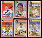 1983 Donruss Hall of Fame Heroes Complete Set 14 SIGNED Greenberg Dickey Grimes