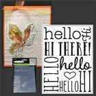 Hello Background folder Darice embossing folders 30008376 Cuttlebug Compatible