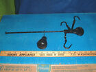 vtg antique farm tool steel yard cotton meat scale rare 3 hook bar scale