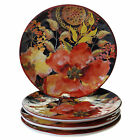 Certified International Watercolor Poppies 8.5-inch Salad/Dessert Plates (Set of